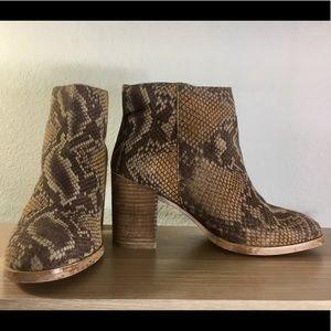 ASOS Snakeskin Ankle Booties